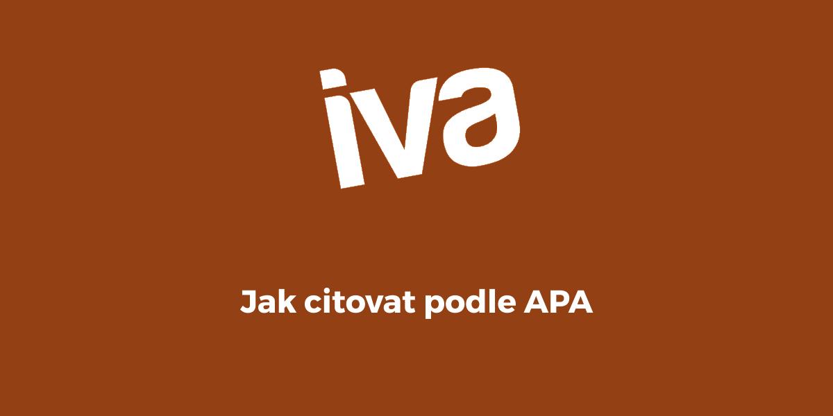 Jak citovat podle APA